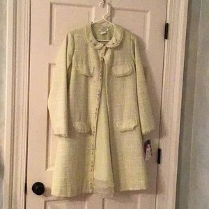 Two piece girl's dress with matching coat!